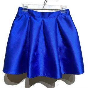 Teeze Me Pleated Flare Skirt | Blue | Size 5/6